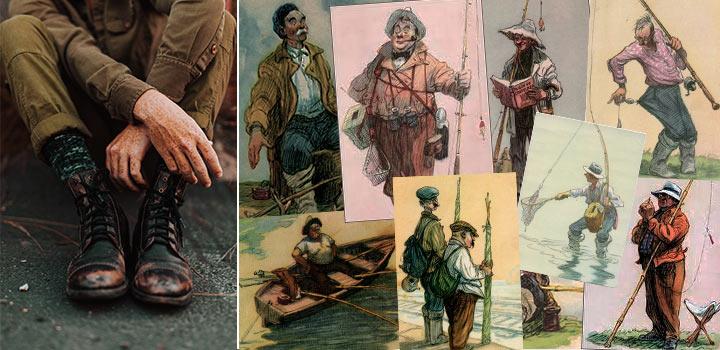 фото Что такое рыбалка? Реалии Советского общества в открытках
